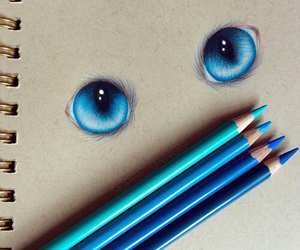 blue, eyes, and drawing image