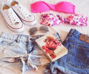 summer, shorts, and book image