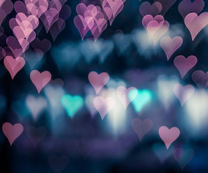 hearts, art, and bokeh image