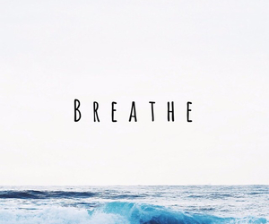 breathe, ocean, and blue image