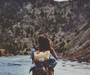 girl, nature, and vintage image image