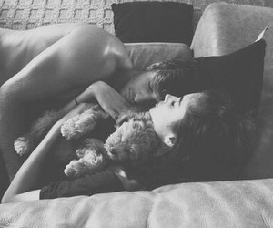 black and white, boy and girl, and I Love You image