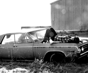 car, black and white, and fashion image