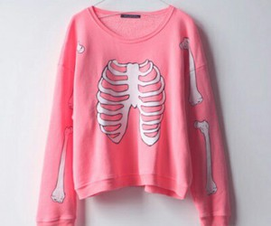 pink, bones, and sweater image