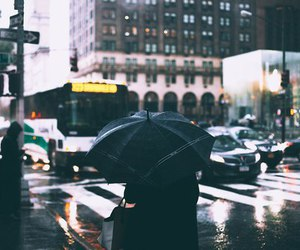city, rain, and grunge image