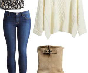 blouse, boots, and fashion image