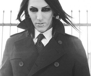 black&white, motionless in white, and long hair image