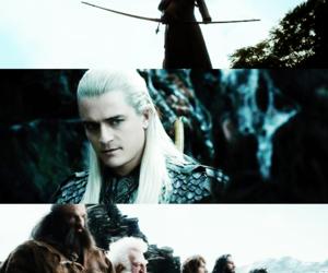 Legolas, the hobbit, and bard image