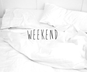 pillows, weekend, and quotes image