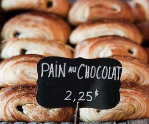 chocolate, food, and pain au chocolat image