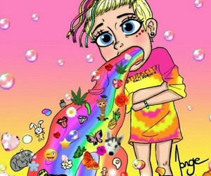 miley cyrus and colors image