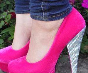 fashion, louboutins, and heels image