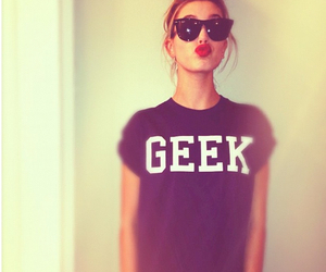 geek, girl, and hailey baldwin image