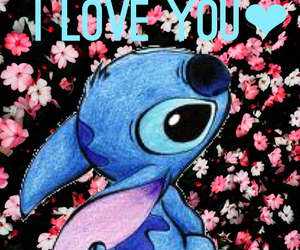 love, heart, and stitch image