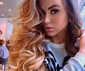 hair, girl, and beauty image
