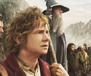 the hobbit, gandalf, and thorin image