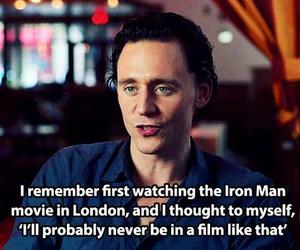 loki, tom hiddleston, and iron man image