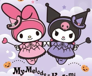 kuromi, Halloween, and my melody image