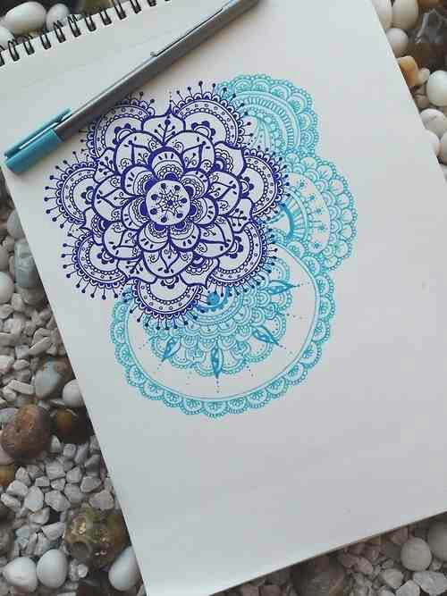 drawing, blue, and art image