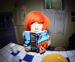 book, hair dye, and orange image