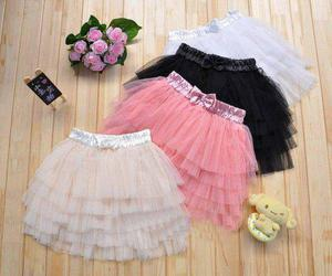 skirt, black, and pink image