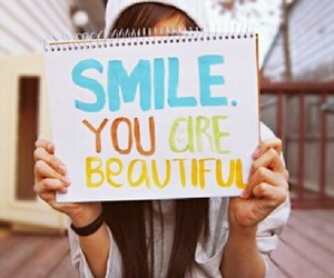 smile you are beautiful image