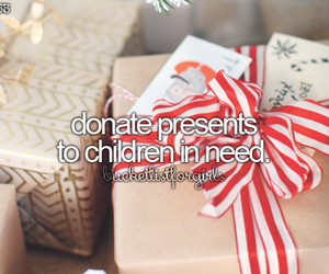 presents and donate image