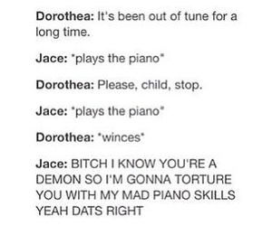 jace, piano, and demon image