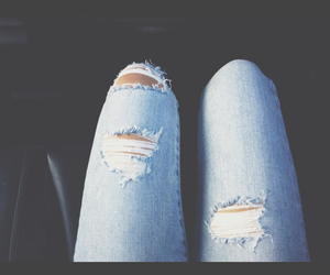 grunge, hipster, and ripped jeans image