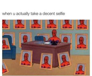 funny, selfie, and spiderman image