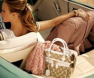 Louis Vuitton, car, and bag image