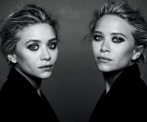 ashley olsen, black and white, and celebrities image