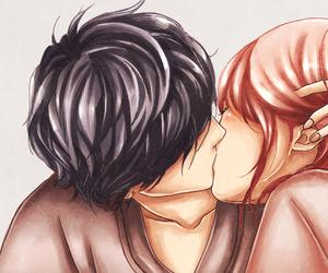 ao haru ride, kiss, and love image