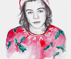 christmas, Harry Styles, and 1d image