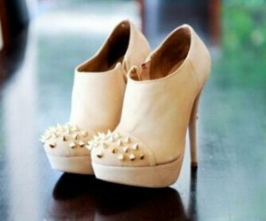 booties, white, and heels image