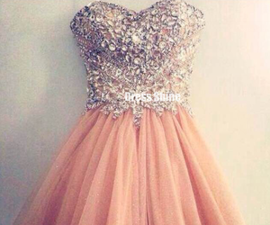 dress, homecoming dress, and pink image