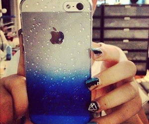 iphone, blue, and apple image