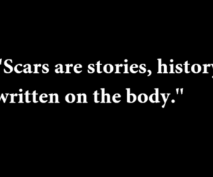 scars, history, and quote image