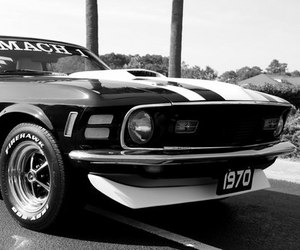 car and '70 ford mustang mach 1 image