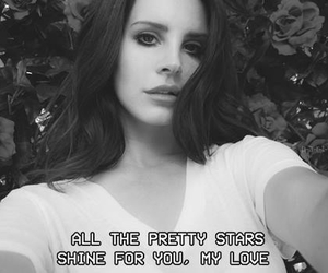 lana del rey, black and white, and quotes image