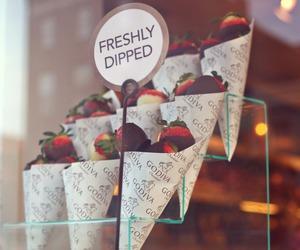 cafe, godiva, and strawberries image