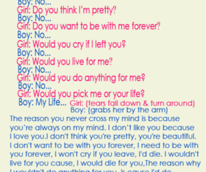 boy, conversations, and girl image