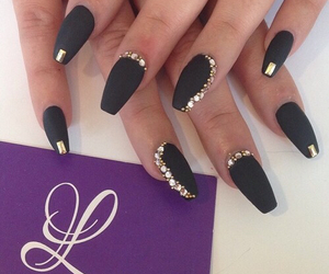 black, matte, and cute image
