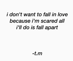 fall, fall apart, and in love image