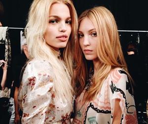 model, backstage, and blonde image