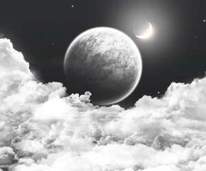 moon, cosmos, and sky image