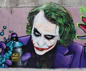 joker, graffiti, and art image