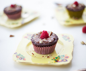 almond, chocolate, and cupcakes image