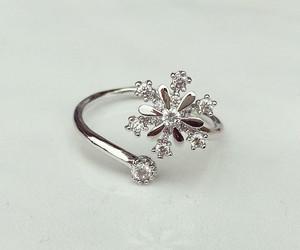 girls, ring, and snowflake image