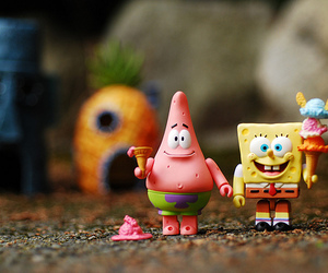 patrick, spongebob, and ice cream image